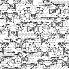 Graphic drones pattern