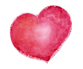 pink heart watercolour. love, relationship, art, painting