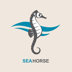 image of sea horse and ocean waves