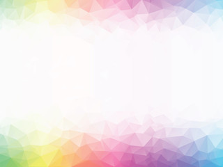 rainbow colored geometric background