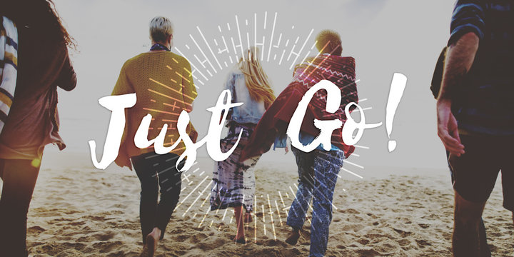 Just Go Journey Explore Trip Destination Traveling Adventure Con