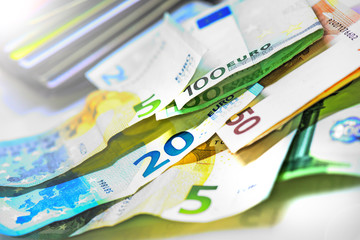Currency in Europe, Euro money, business concept