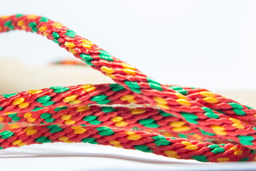 color rope. red, yellow and green