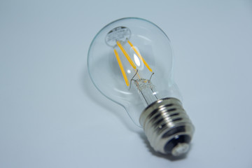led lamp with white background