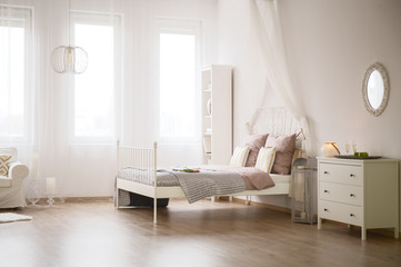 Light flat with bed