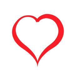 Scarlet heart on white background. Illustration