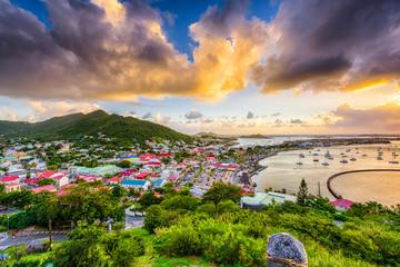 Poster Caraïben Marigot St. Martin Skyline