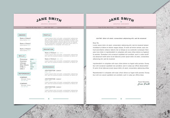 Pastel Accent CV and Cover Letter Layout