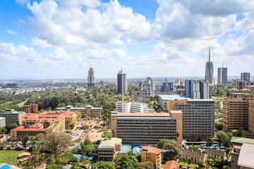 Wall Mural - Nairobi cityscape - capital city of Kenya