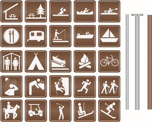 Parks and Recreation Icon set