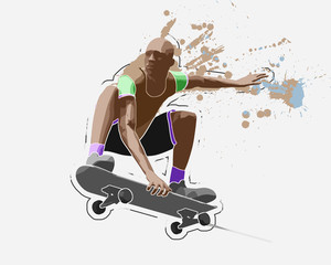 Skater, 3d rendering