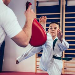 Tae kwon do training