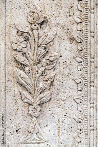 Quot oriental floral stone carving close up texture immagini