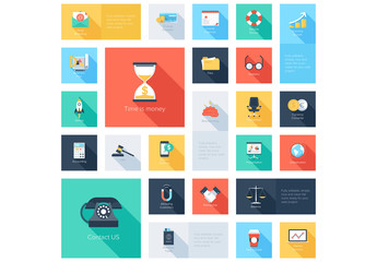 Business and Law Grid Illustration