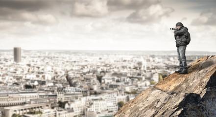 fotografare la città dall'alto