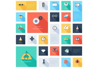 Content Management Grid Illustration