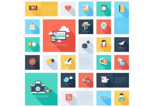 Cloud Services Grid Illustration