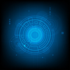 futuristic hud Abstract Circle digital technology background, futuristic structure elements concept background design