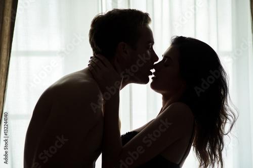 Couple neck kiss