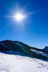 Aletsch glacier - ice landscape in Alps of Switzerland, Europe