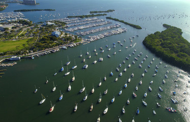Aerial image of the Dinner Key Marina