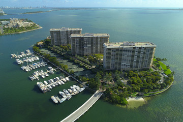 Aerial image Grove Isle Miami FL