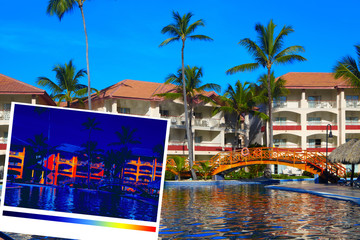 Tropical resort and thermal imaging