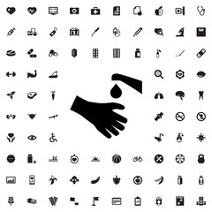 hands washing icon illustration