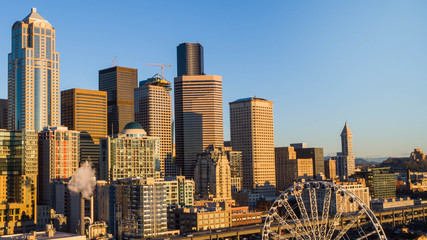 Fotomurales - Seattle Skyline at Sunset