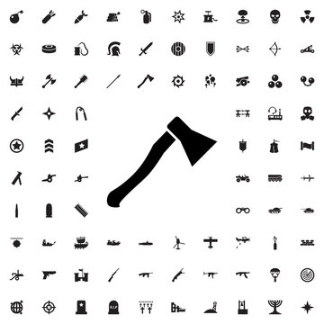 axe weapon icon illustration