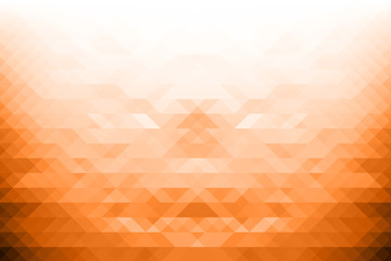 Low poly Abstract background in orange tone