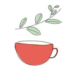 Травяной напиток в кружке