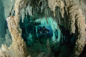 Cave Diving Mexico Cenotes de Yucatan Wall mural