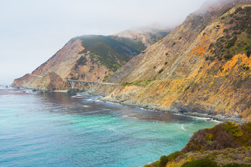 Highway One along coast - Stock Image
