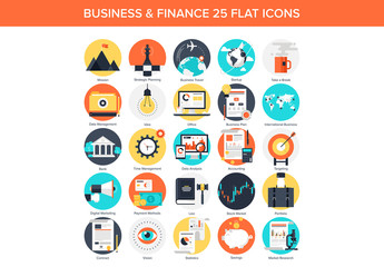 25 Colorful Circular Business Icons 6