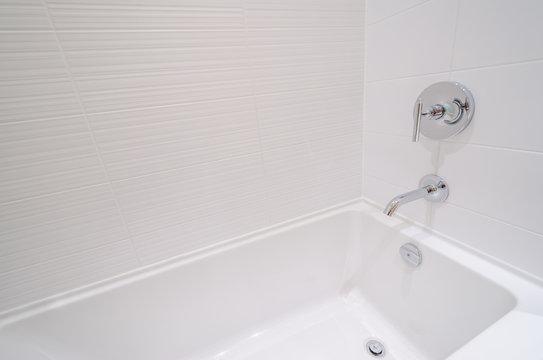 Luxury bathroom with a detail of bathtub.