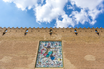 Walls of Karim Khan Castle in Shiraz city in Iran