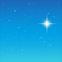 Starry Sky. On the blue sky the stars