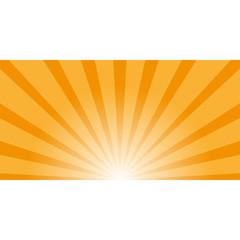 Retro vintage rays orange background in pop-art style