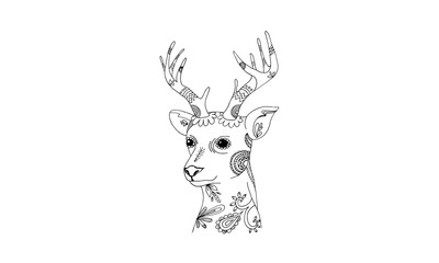 Animal draw for antistress coloring