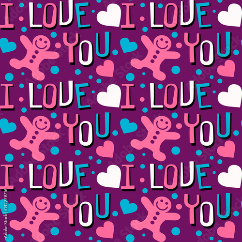 abstract background with words text i love you wallpaper seamless