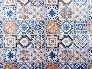 Beautiful old ceramic tiles pattern