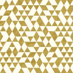 Seamless Golden Pattern of geometric shapes