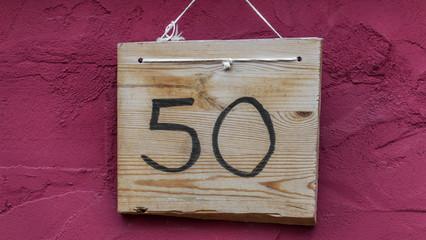 Hausnummer fünfzig