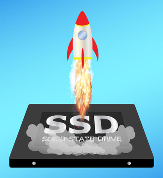 solid state drive or ssd with a speed boost rocket