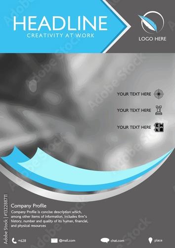 u0026quot vector brochure flyer design layout template  size a4