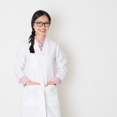 Young female scientist portrait