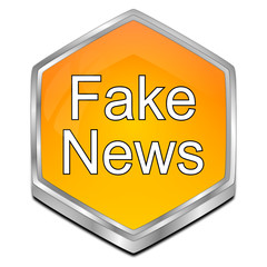 Fake News button - 3D illustration