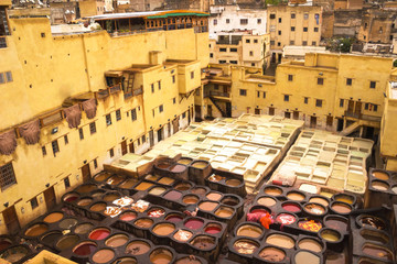 The famous Chouwara Tannery of Morocco