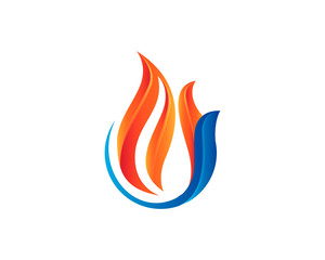 Fire Ice Logo Vector